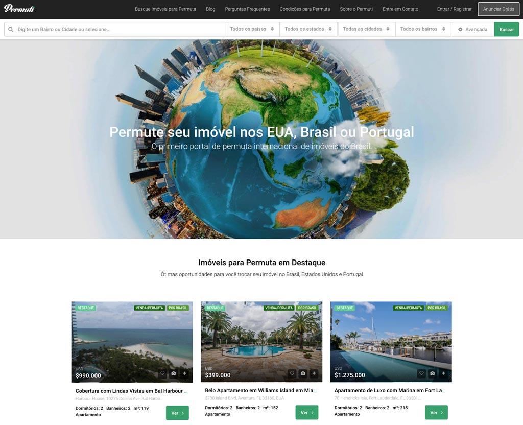Permuti.com - Portal permuta de imóveis no Brasil, EUA e Portugal